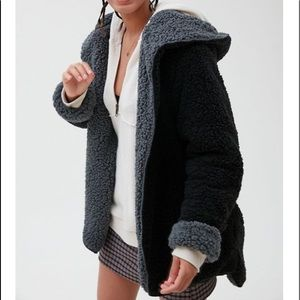 Urban Outfitters Reversible Hooded Teddy Jacket